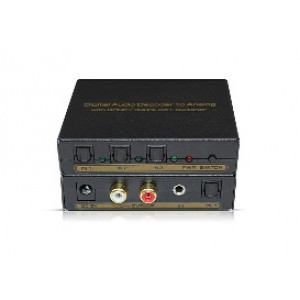 Digital Audio Decoder to Analog With SPDIF/Toslink 3X1 Switcher