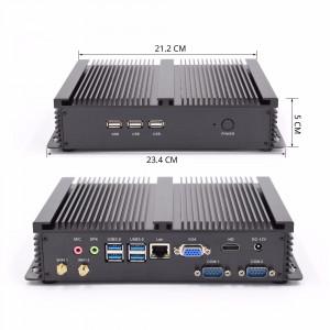 Przemysłowy mini PC Intel i5 8/128G VGA HDMI RS232