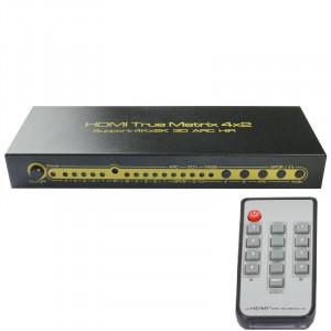 1.4v 4x2 HDMI matrix with Audio