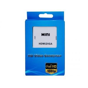 Mini konwerter sygnału HDMI do VGA z audio 3,5 HDV-M630