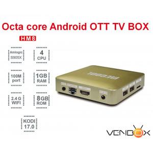 TV Box HM8 Android 6.0 Amlogic S905X 1GB/8GB WiFi BT4.0 4K Media Player