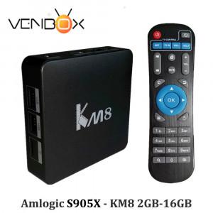 TV Box KM8 Amlogic S905X Quad Core Android 6.0 KODI Dual WiFi 2.4G/5G, BT 4.0, 2GB/16GB 4K Smart Media Player