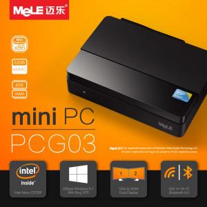 Mini PC MeLE PCG03 czterordzeniowy HTPC z Intel Atom Z3735F, 2GB RAM, 1080P HDMI 1.4, VGA, LAN, WiFi, Bluetooth, Windows 10
