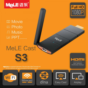 Smart TV Stick MeLE Cast S3, WiFi HDMI Dongle, AirPlay, EZCast, Miracast, Mirror, DLNA, Wireless, Display Player for Android/iOS/Windows