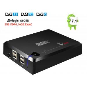 Smart TV Box KI PRO DVB S2/T2/C Android 7.1 Amlogic S905D Quad core DDR4 2/16GB 2.4G/5G WiFi H.265 4K odtwarzacz multimedialny