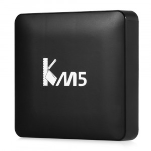 Smart TV Box KM5 Android 6.0 Amlogic S905X Quad Core 1G / 8G 2.4G WIFI KODI IPTV multimedialny odtwarzacz