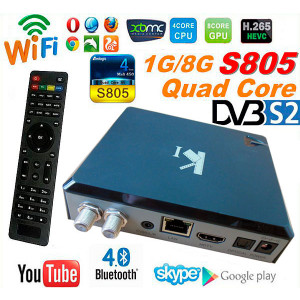 Android TV Box VenBOX ITV-K1 Quad-Core Amlogic S805, 1GB RAM, 8GB ROM Z Tunerem DVB-S2